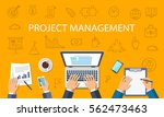 project management concept.... | Shutterstock .eps vector #562473463