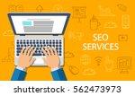 seo services concept. flat... | Shutterstock .eps vector #562473973