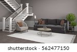interior with sofa. 3d... | Shutterstock . vector #562477150