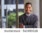 middle aged black businessman... | Shutterstock . vector #562485328