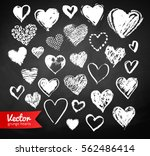 vector white chalk drawn... | Shutterstock .eps vector #562486414