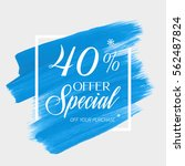 sale special offer 40  off sign ... | Shutterstock .eps vector #562487824