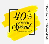 sale special offer 40  off sign ... | Shutterstock .eps vector #562487938