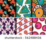 set abstract geometric... | Shutterstock .eps vector #562488436