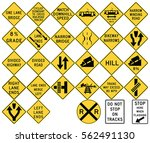 road signs in the united states.... | Shutterstock .eps vector #562491130