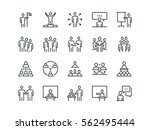 business people. set of outline ... | Shutterstock .eps vector #562495444