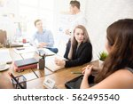 young business people in co... | Shutterstock . vector #562495540
