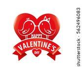 logo happy valentine's day.... | Shutterstock .eps vector #562496083