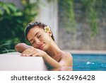 beauty and body care. sensual... | Shutterstock . vector #562496428