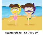 illustration of girl and boy...   Shutterstock . vector #56249719