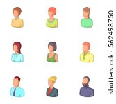 account of men and women icons... | Shutterstock .eps vector #562498750
