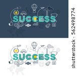 success web page banner concept ... | Shutterstock .eps vector #562498774