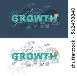 growth web page banner concept... | Shutterstock .eps vector #562498840