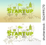 startup web page banner concept ... | Shutterstock .eps vector #562499170