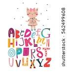funky abc for kids.   Shutterstock .eps vector #562499608