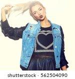 high fashion look.glamor... | Shutterstock . vector #562504090