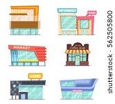 vector front view  set of shop  ... | Shutterstock .eps vector #562505800