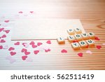st valentine's day  a love note ...   Shutterstock . vector #562511419