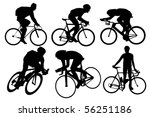 cyclist silhouettes set | Shutterstock .eps vector #56251186