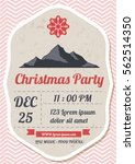 christmas party poster template ...   Shutterstock .eps vector #562514350
