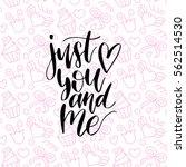 valentine's day handwritten... | Shutterstock .eps vector #562514530