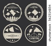 set of mountain adventure and... | Shutterstock .eps vector #562514854