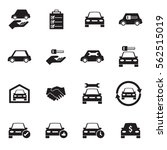 car sale and rental car icons... | Shutterstock .eps vector #562515019