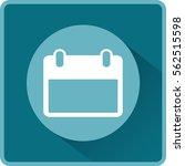 flat vector calendar icon   Shutterstock .eps vector #562515598