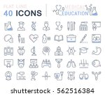 set vector line icons  sign and ... | Shutterstock .eps vector #562516384