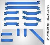 blue ribbon banners set... | Shutterstock .eps vector #562522798
