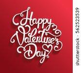 typographic valentines day... | Shutterstock .eps vector #562523539