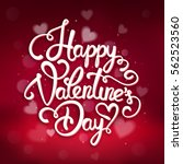 typographic valentines day... | Shutterstock .eps vector #562523560