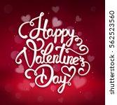 typographic valentines day... | Shutterstock .eps vector #562523560