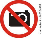No Photography Sign Vector....