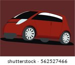 small car red realistic vector... | Shutterstock .eps vector #562527466