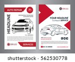 set auto repair business layout ... | Shutterstock .eps vector #562530778