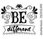 be different quote. ink hand... | Shutterstock .eps vector #562531390