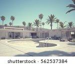 3d rendering. view of swimming...   Shutterstock . vector #562537384
