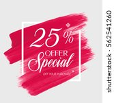 sale special offer 25  off sign ... | Shutterstock .eps vector #562541260
