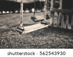 Monochrome Image Empty Swing A...