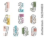 element  set of ten number... | Shutterstock .eps vector #562544833