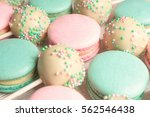 Macro Shot Of Sweet Macaroons...