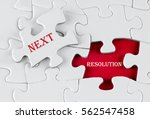 white puzzle with void in the...   Shutterstock . vector #562547458
