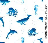 seamless pattern with... | Shutterstock .eps vector #562548154