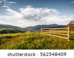 Rural Wooden Fence. Natural...