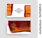 set of vector business card... | Shutterstock .eps vector #562548913