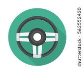 steering wheel sign. gray... | Shutterstock .eps vector #562552420