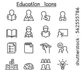 learning   education icon set... | Shutterstock .eps vector #562555786