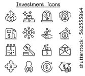 business   investment icon set...   Shutterstock .eps vector #562555864