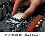 plug in cpu microprocessor to... | Shutterstock . vector #562556134
